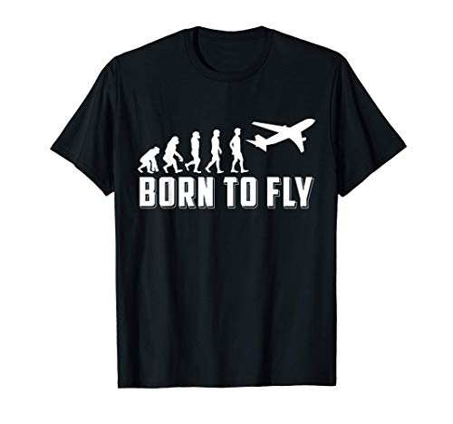 Evolution Flugzeug Pilot I Flieger I Airbus I Airline T-Shirt