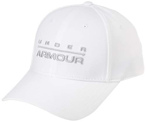Under Armour Men's Wordmark STR cap, Cappello Uomo, Bianco (White/MOD Gray), M/L
