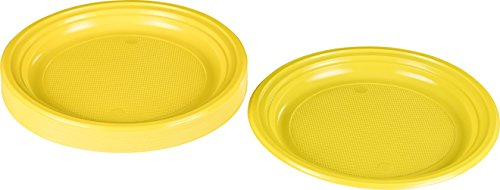 Kigima Einweg Teller Kunststoff gelb, 30 STK, DM 22 cm