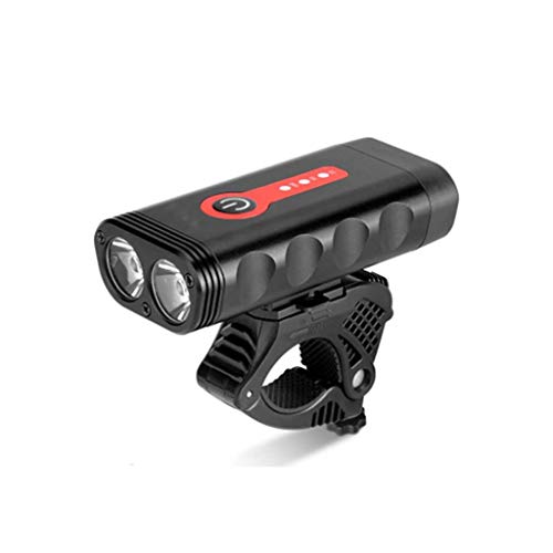 HLD Bicycle Night Riding Lights Car Headlights Mountain Bike Accessories Equipped with Aluminum Alloy Rechargeable Flashlight Glare Night Riding Headlights Headlight-Taillight Combinations