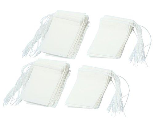 niceEshop(TM Sachet de Thé Jetable en Papier Filtrant(Blanc, Taille de XS, Kit de 100)