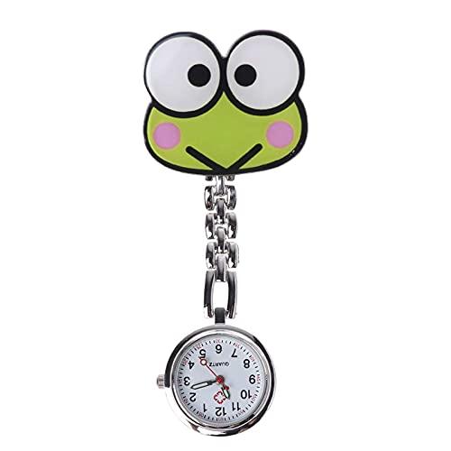 Hffan Taschenuhren für Ärzte und Krankenschwestern ,Uhren Krankenschwesteruhr Silikon Cute Muster Uhr Pflegeruhr Pulsuhr Ketteuhr Ansteckuhr Schwesternuhr mit Clip Analoge Quarzuhr