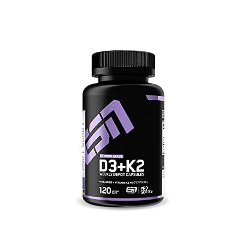 ESN Vitamin D3+K2, 120 Kaps.