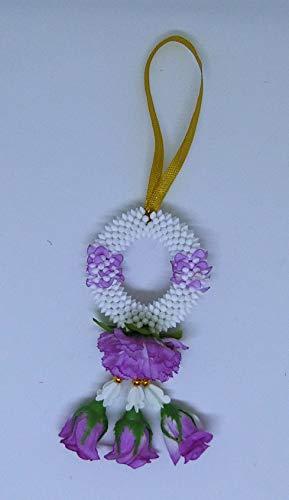 "FUSAP Thai Rose Jasmine Garland Fabric Flowers- Dia 3"" (Purple)"