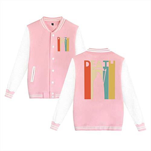 Fashion Mens & Womens Vintage 1980s Grim Reaper Death Unisex College Jacket Baseball Uniform Jacket Sport Coat
