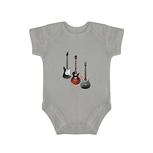 VinMea Body de manga corta divertido mono de bebé para guitarra eléctrica,...