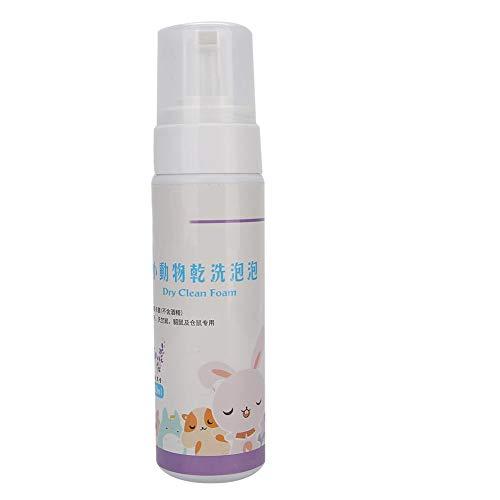 Cosiki Vorbeugungskrankheit Kaninchen-Trockenreinigungsschaum, 180 ml Schaum Haustier-Trockenreinigungsschaum, chemische Reinigung Haustierbedarf für Haustiere(Lavender)