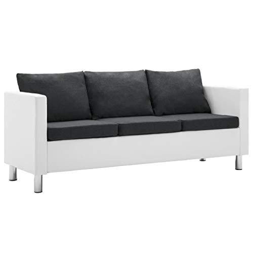 vidaXL Sofa 3er Kunstleder Couch Ledersofa Polstersofa Loungesofa Sitzmöbel