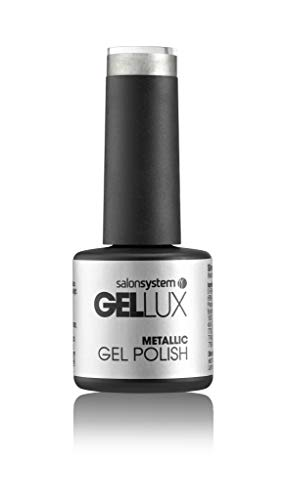 Salon System Gellux gel nagellak Silver Mist (metallic), 8 ml