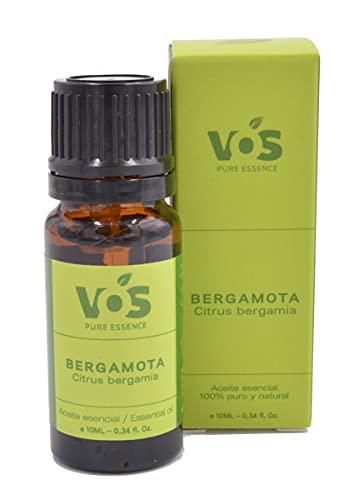 Aceite esencial de bergamota - 100% Puro y natural - Ayuda con alivio de ansiedad, estrés, tonificar la piel - 10ml
