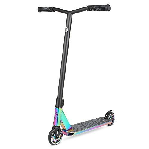 VOKUL BIZT K1 Pro Scooter – Stunt-Scooter für Kinder ab 7 Jahren, Anfänger bis Fortgeschrittene Tricks Freestyle Scooter mit 110 mm Alufelgen (Neo)
