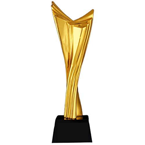 Qazxsw Trophy,Unternehmen Jahrestagung Personalauswahl Auszeichnungen Vertrieb Champion Trophy Custom Kristall Vergoldung,Gold,30 * 8cm