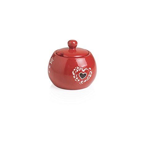 BRANDANI 54084 Sucrier Incanto Rouge Stoneware cm D 10,5 x H 10 cm