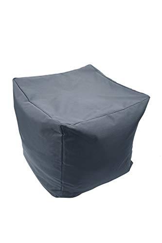 iStyle Sitzsack, quadratisch, wasserdicht, für drinnen und draußen, Sitzgelegenheit, Garten, Fußbank, Hocker, Ottoman, 40 x 40 x 40 cm