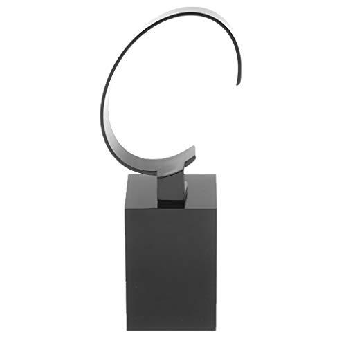 Homyl Acryl Uhrenständer Uhrenbox Ausstellungsstand Schmuck Armbanduhren Display Ständer Aufbewahrung Kasten - 6cm Schwarz