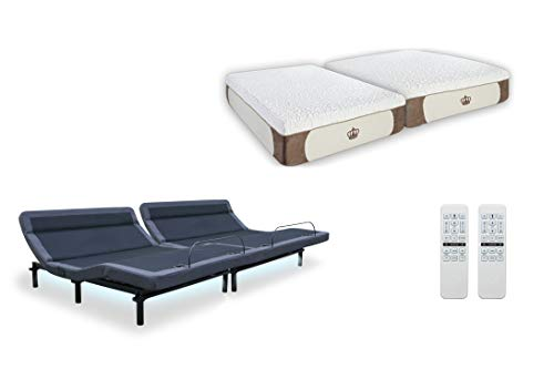 Great Features Of New! Leggett & Platt Adjustable Bed The Williamsburg Plus, Dual Massage, Head Tilt...