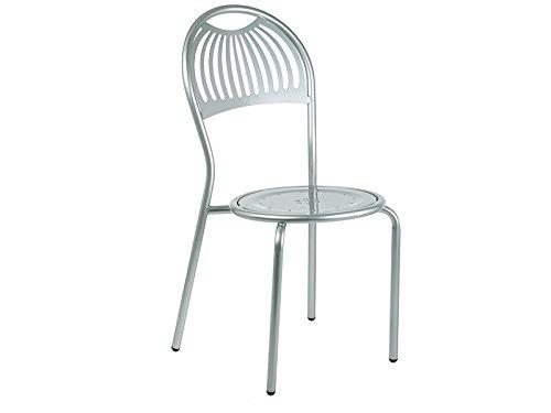 Emu Coupole Chaise empilable Art. 354 couleur aluminium Cod. 20