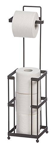 Toilet Paper Holder with Storage - Taupe
