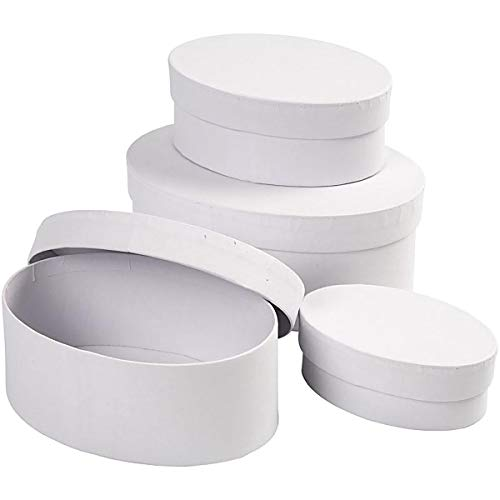 264030 C ovale Boîtes L : 10 + 12 + 14 + 16 cm H : 4 + 5 + 6 +