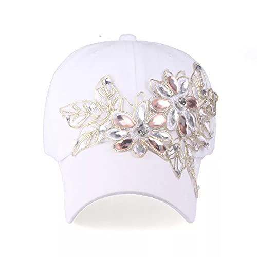 Dingyi Gorra de béisbol con Diamantes de imitación para Mujer, Sombrero Casual para Flor, Sol de Verano sólido, Sombreros para Dama, Venta al por Mayor, Casual, para Correr, Deportes al Aire Libre