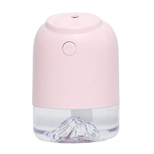 TangLong 250ml USB Luftbefeuchter Ultraschall Kaltnebel Mini Luftbefeuchter, Home Office-Rosa
