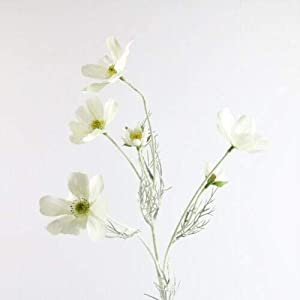 Artificial and Dried Flower 1PC Cosmos Artificial Flowers Fake Peonies Silk Bouquet Home Wedding Party Elrgant Wedding Bouquet Party Home Garden Decorative – ( Color: White )