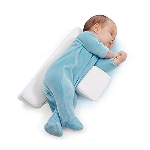 Almohada para dormir del lado del bebé, cuña de apoyo, cojín antivuelco ajustable para bebés, almohada para bebé de posicionamiento triangular 🔥