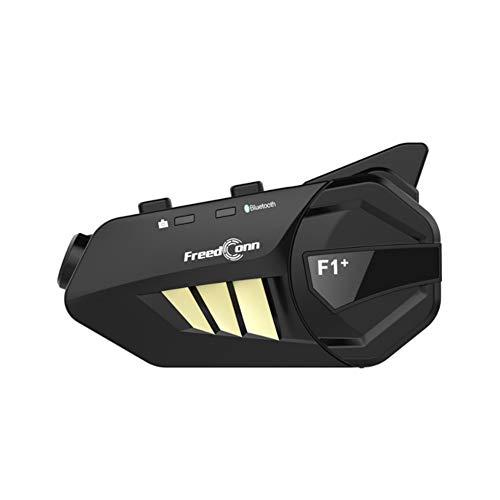 MXGP Intercomunicador de Motocicleta Casco inalámbrico Sistema de comunicación de Auriculares Bluetooth 1000M Interfono de Motocicleta Puede acomodar 6 Jinetes Función de Video 1080P GPS,Radio FM
