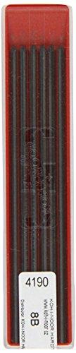 KOH-I-NOOR - Minas de grafito, 8B, 2 mm
