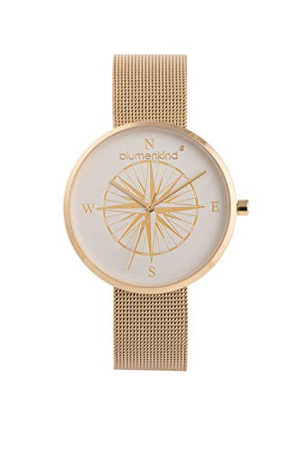 Blumenkind Damen Uhr Kompass Gold -die Maritime Uhr zum (Dur) Schmuck BKU2GOSS