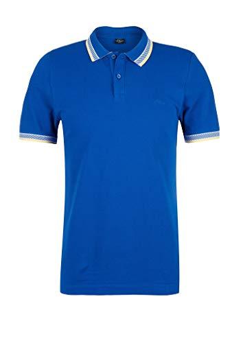 s.Oliver RED Label Herren Poloshirt mit Kontrast-Streifen Blue XL
