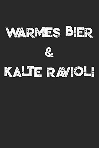 Warmes Bier & Kalte Ravioli: Festival Notizbuch / Tagebuch / Heft mit Karierten Seiten. Notizheft mit Weißen Karo Seiten, Malbuch, Journal, Sketchbuch, Planer für Termine oder To-Do-Liste.