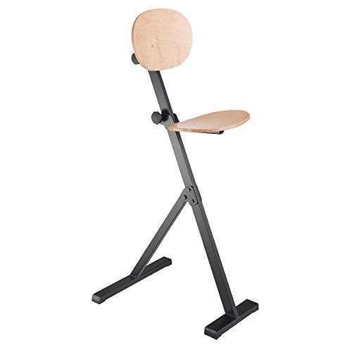 Kappes | ErgoPlus Stehhilfe mit Rückenlehne | Höhenverstellbar | Buche | Ergonomisch | Stehstuhl Werkstattstuhl