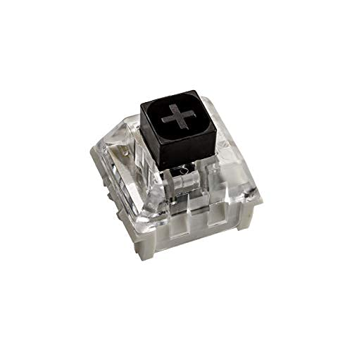 Glorious PC Gaming Race Kailh Box Black Switches (120 Stück), Linear und Silent Switches fur Gaming Tastatur, Hohe Kompatibilität, 3 Pin Mechanical Switches mit Box Top, Mechanical Keyboard Switches