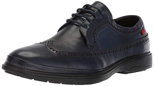 MARC JOSEPH NEW YORK Men's Leather Made in Brazil William Street Oxford, Navy Nappa, 7 D(M) US