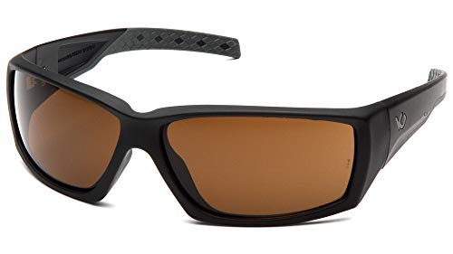 Venture Gear Overwatch Shooting Safety Sunglasses, Black, Bronze Anti-Fog Lens