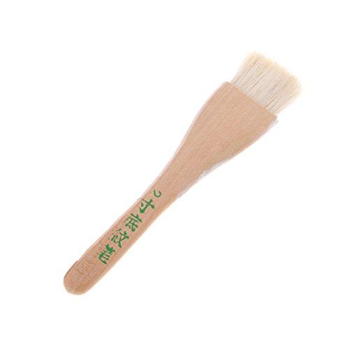 FATTERYU Ziegenhaar Griff Art Supplies Aquarell Acryl Holz Öl Pinsel sechs Größen