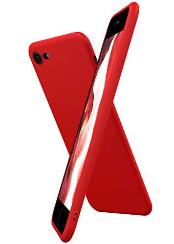 OneFlow Cover Flessibile SlimShield PRO Compatibile con iPhone 7 / iPhone 8 | Silicone e TPU, Rosso