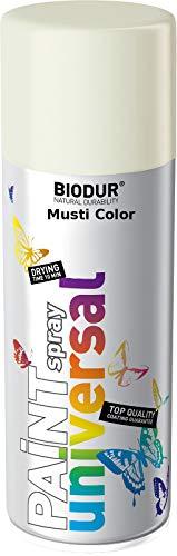 Pintura en aerosol para llantas, color blanco brillante RAL9003