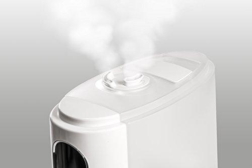Miniland Humitouch Pure - Humidificador Ultrasónico Programable, con Ozonizador y Aromaterapia, más de 50 Horas de Autonomía, capacidad 5L