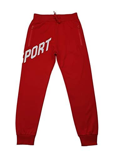 Sports Boy Bequeme Jogginghose, Freizeithose in Rot, Gr. 128/134, j6287.10