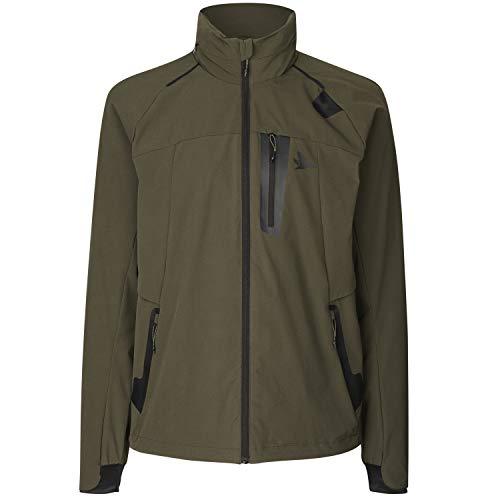 Seeland leichte Trekkingjacke für Herren Hawker Trek in Grün mit geringem Packmaß • Kompakte wasserfeste Jacke für Wanderungen und Bergtouren im Gebirge, Größe:50