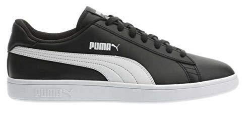 PUMA Men's Smash Leather Shoe Color: Black, Size: 8