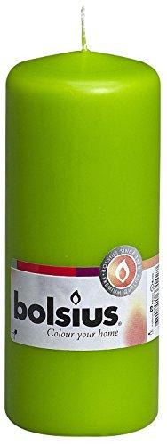 Bolsius-Candela Pillar 103614600174, di paraffina, Colore: Verde Lime
