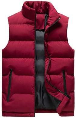 LYLY Vest Women Men Jacket Winter Men Vest for Down Cotton Sleeveless Jacket Waistcoat Man Big Size Warm Waistcoats Coat Vest Warm (Color : Red, Size : L)