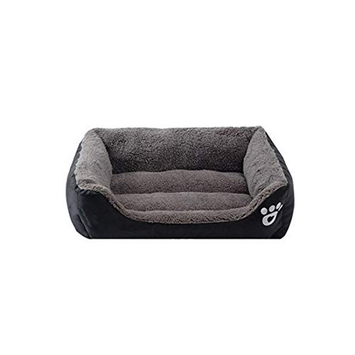 Blue-shore 6 Sizes Pet Dog Bed Warming Dog House Soft Material Nest Dog Baskets Fall and Winter Warm Kennel for Cat Puppy Quality,Black,110Cmx85Cmx19Cm