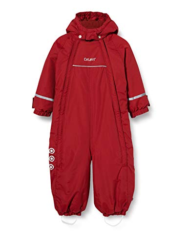 Celavi Mädchen Snowsuit with 2 Zippers Schneeanzug, Rio Red, 86