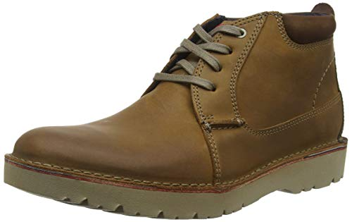 Clarks Vargo Mid Scarpe stringate derby Uomo, Marrone (Dark Tan Leather), 40 EU