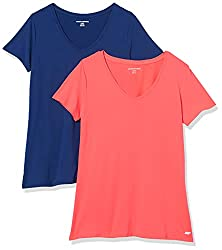 Amazon Essentials Women's 2-Pack V-Neck T-Shirt