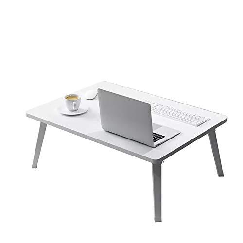 Escritorio de computadora simple escritorio de la cama dormitorio plegable hogar multifunción mesa perezosa mesa para estudiantes (tres colores opcionales) 70x50cm Mesa de Ordenador ( Color : White )